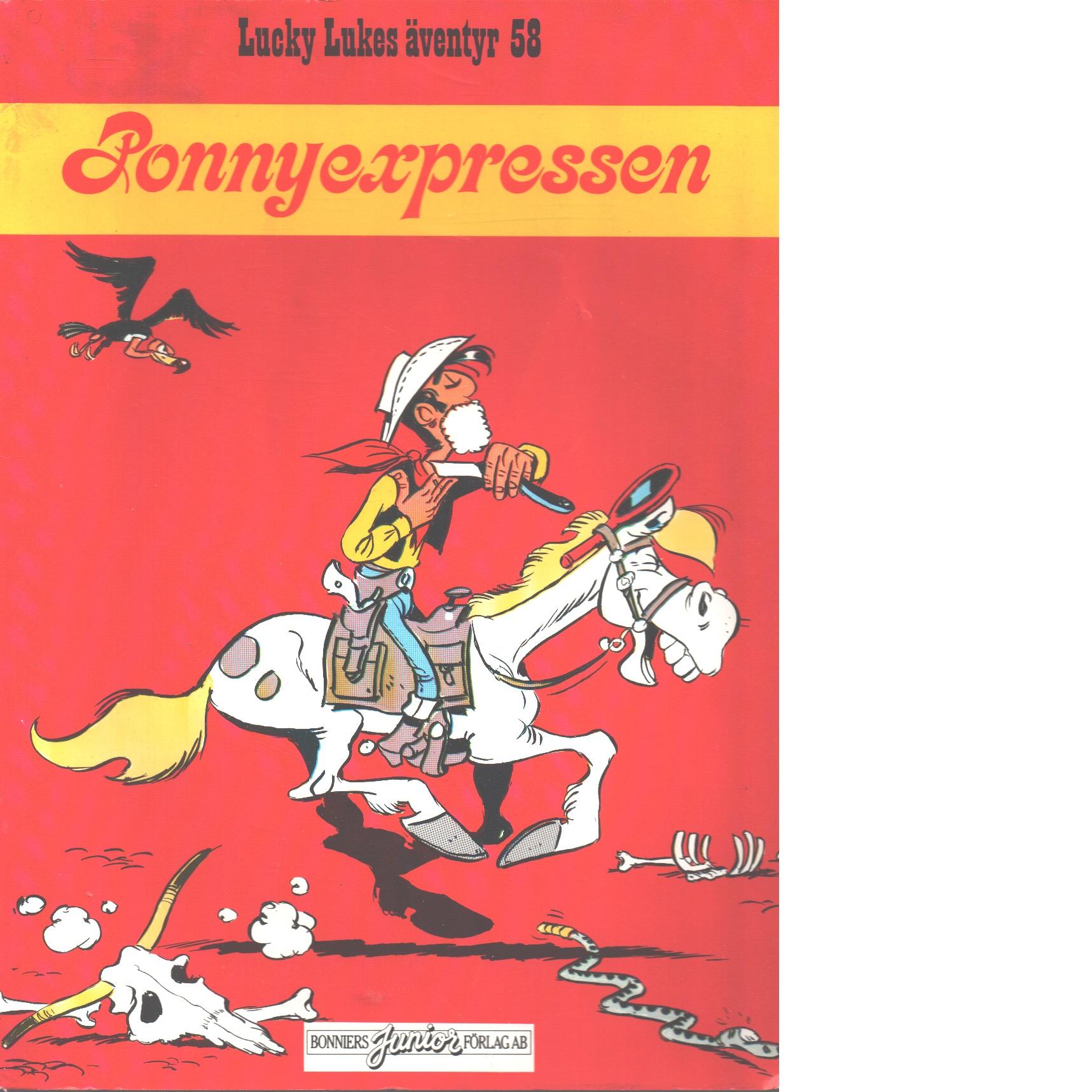 Lucky Lukes äventyr ; 58 Ponnyexpressen - Morris och Fauche, Xavier samt Léturgie, Jean