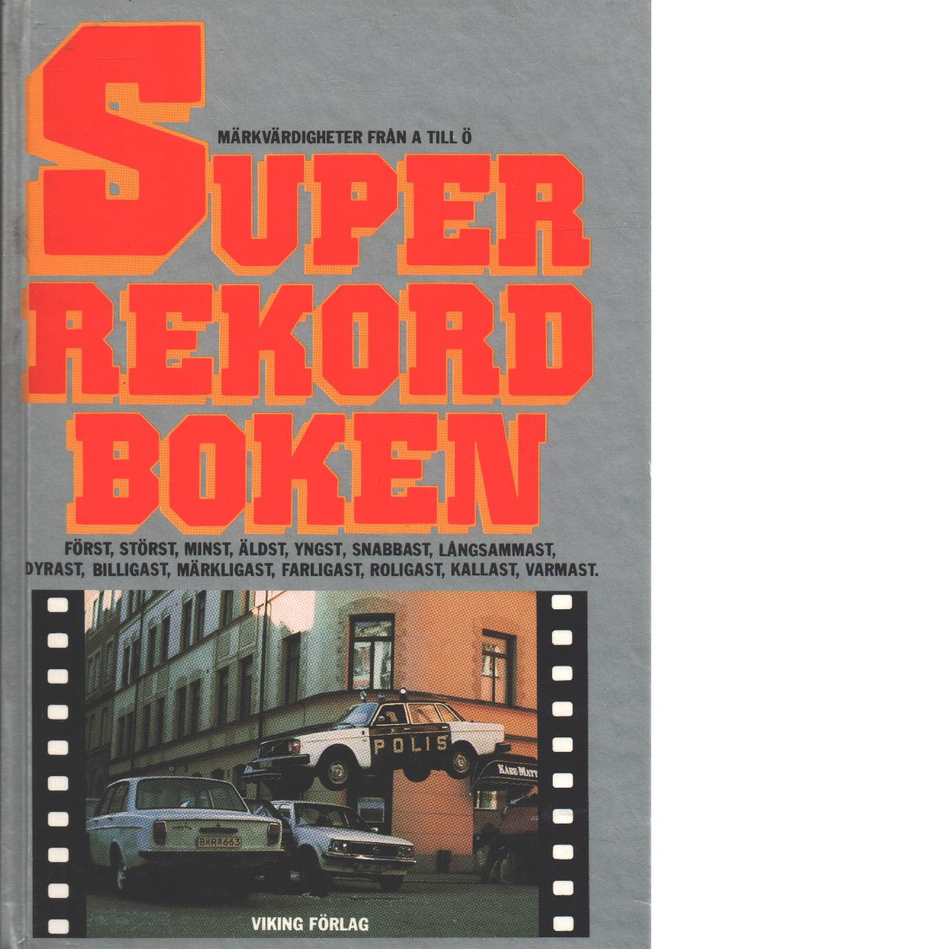Superrekordboken - Red.