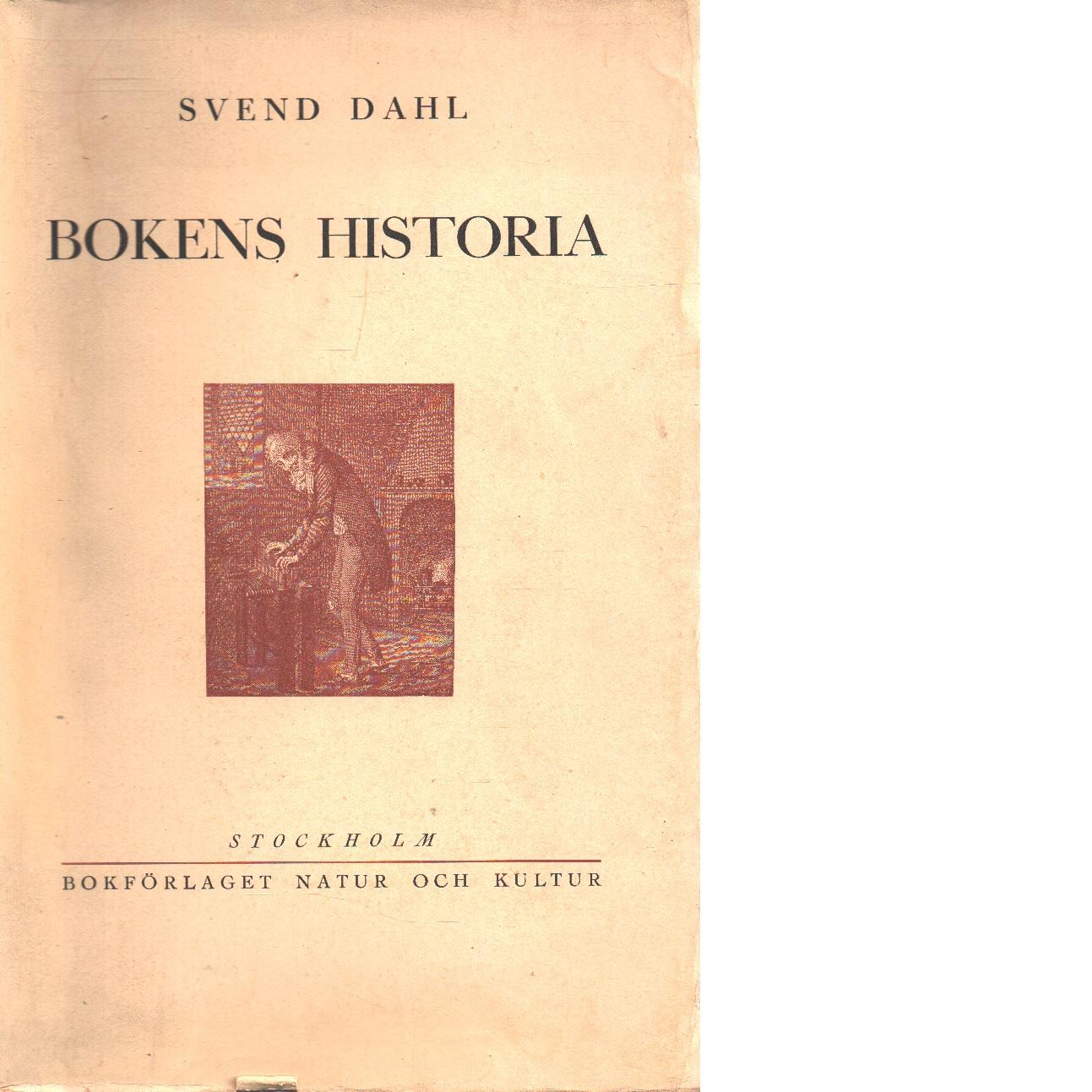 Bokens historia - Dahl, Svend