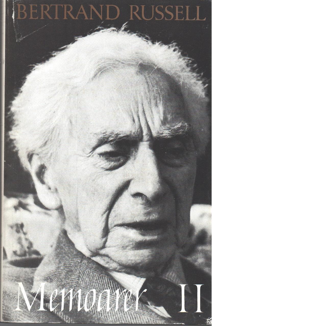 Memoarer. 2, 1914-1944 - Russell, Bertrand