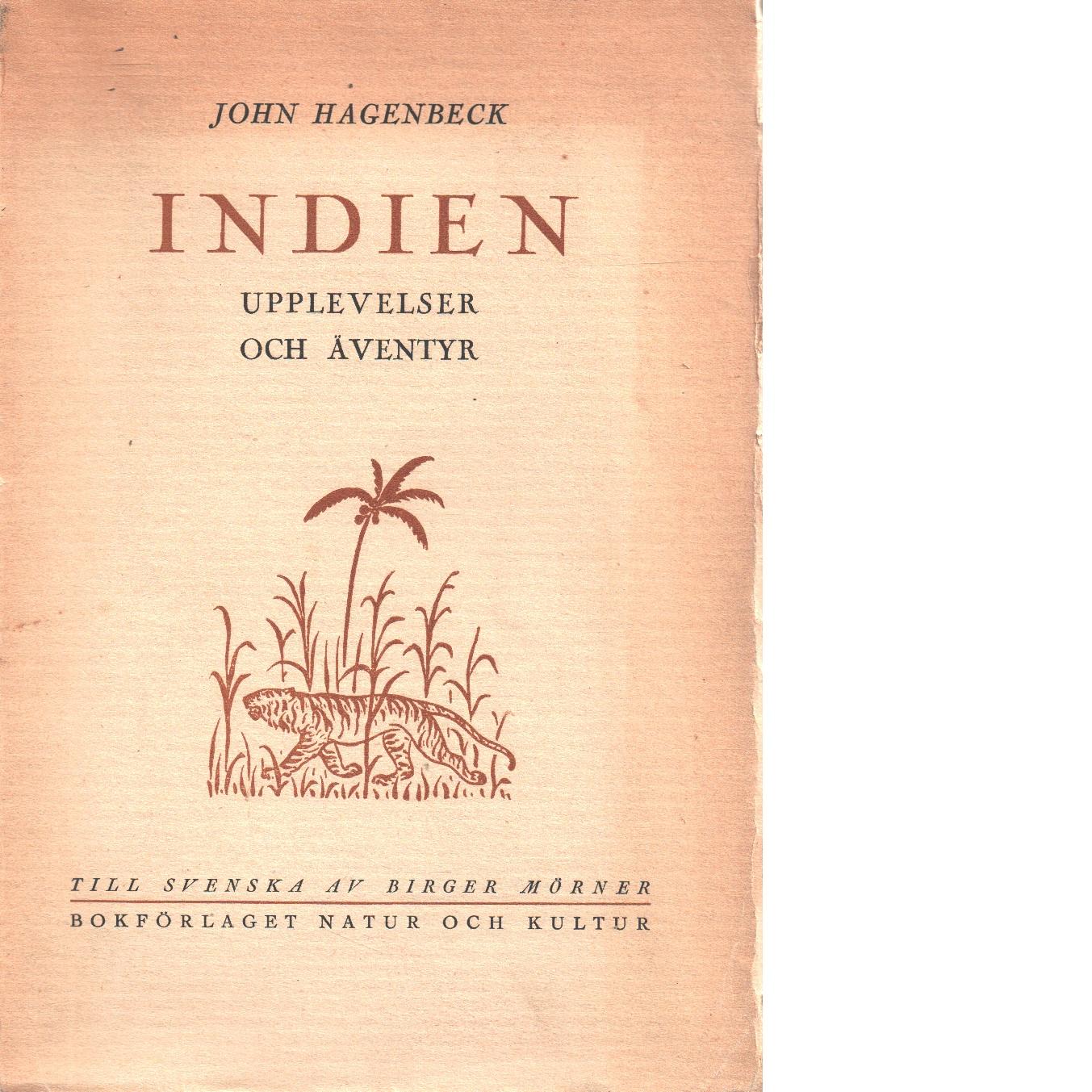 Indien : upplevelser och äventyr - Hagenbeck, John