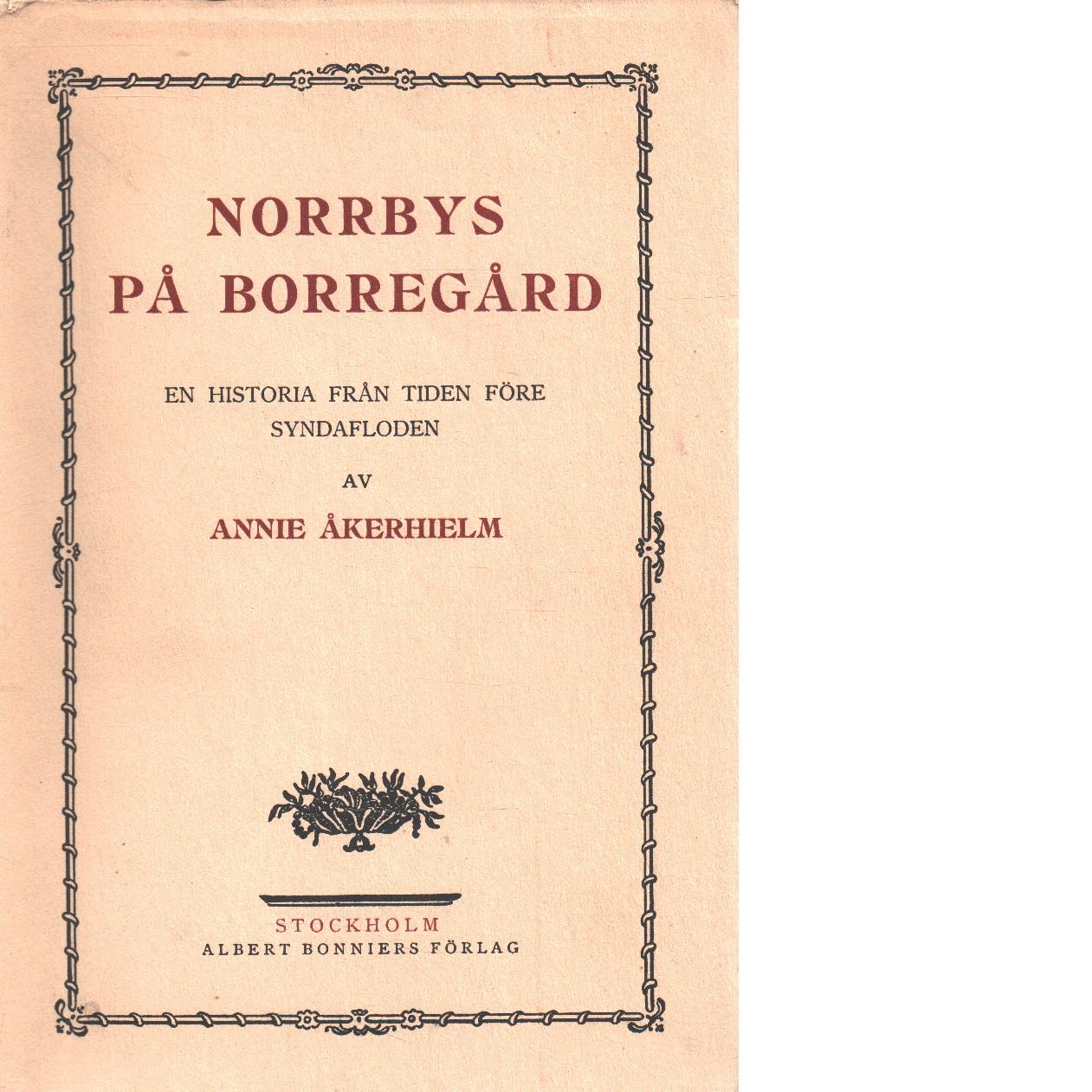 Norrbys på Borregård : en historia från tiden före syndafloden - Åkerhielm, Annie