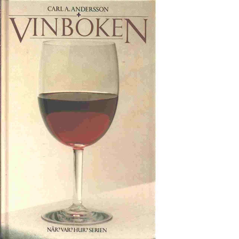 Vinboken - Andersson, Carl A.