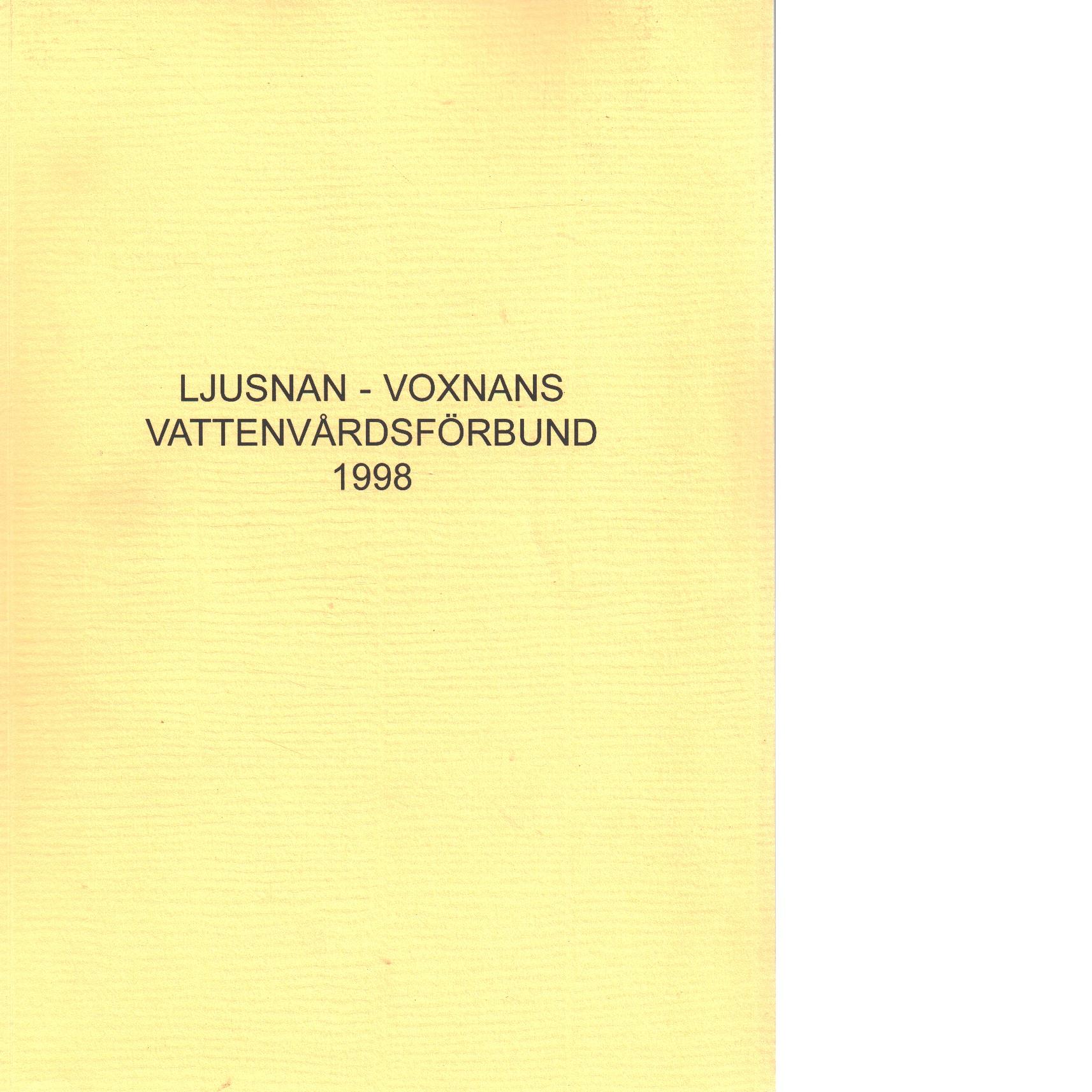 Ljusnan-Voxnans vattenvårdsförbund. - Red.