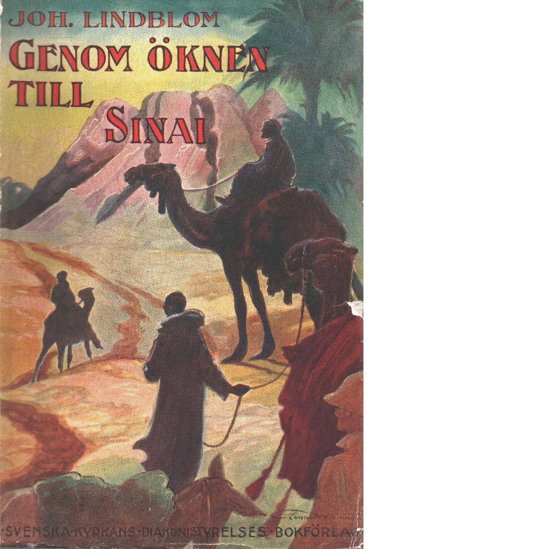 Genom öknen till Sinai - Lindblom, Johannes