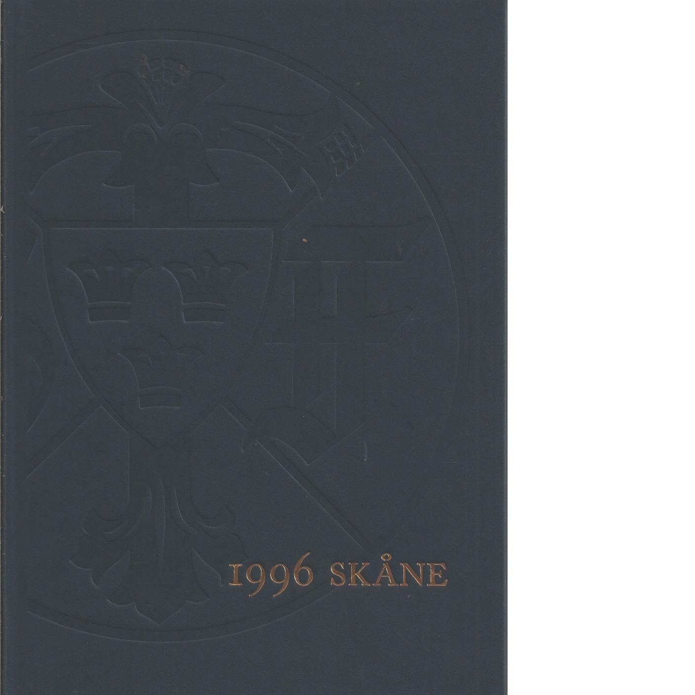 STF:s årsskrift 1996 -Skåne - Red.