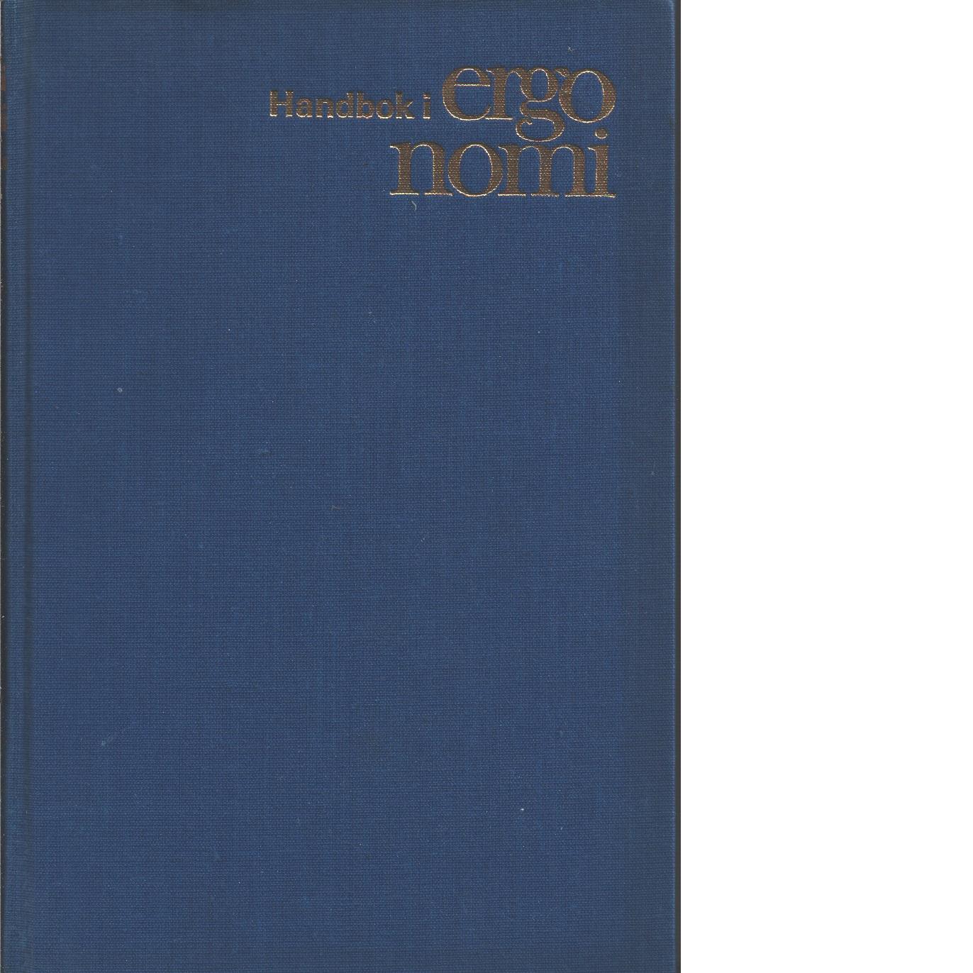 Handbok i ergonomi - Red.