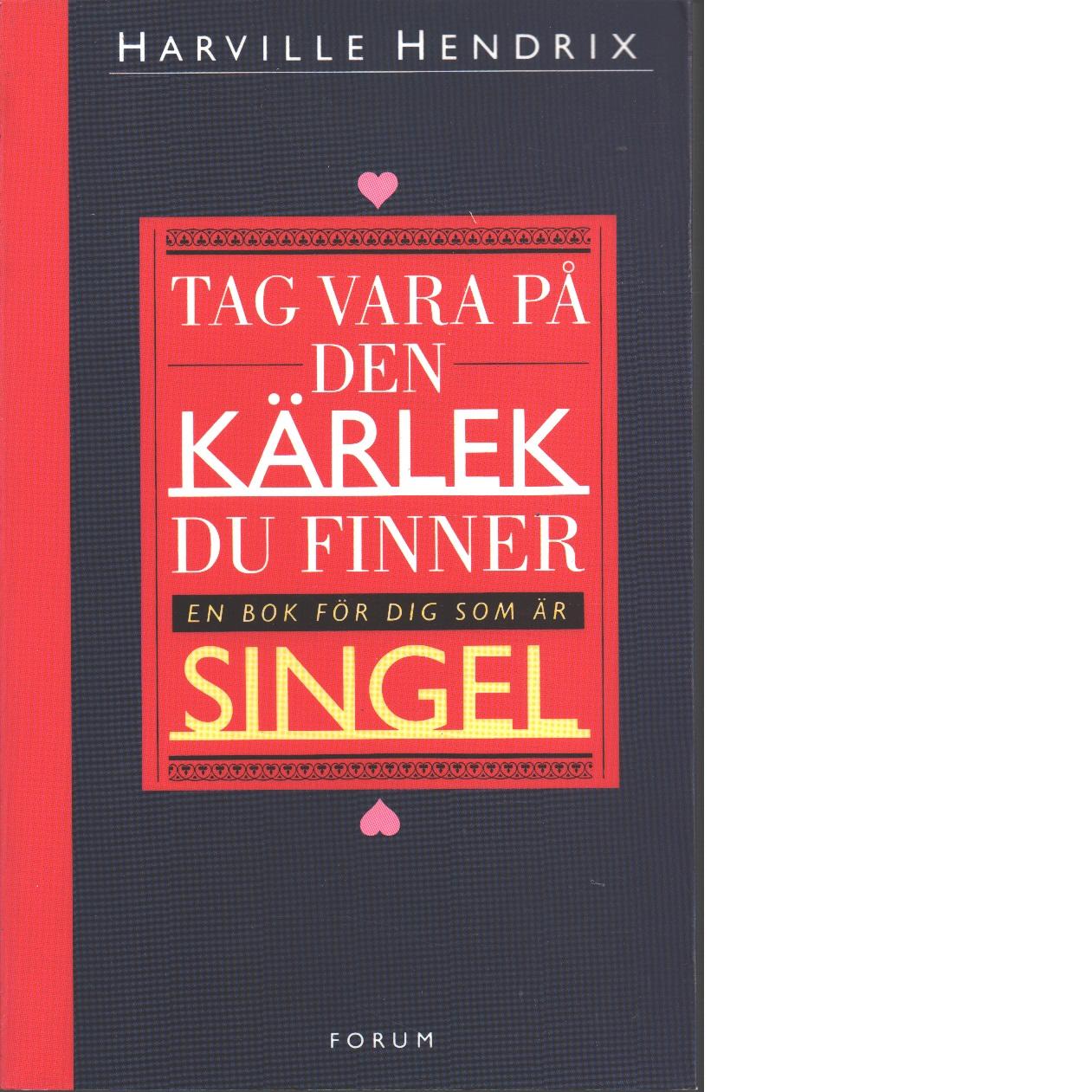 Tag vara på den kärlek du finner : en bok för dig som är singel - Hendrix, Harville