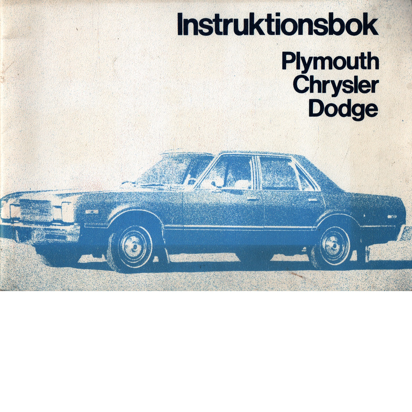 Instruktionsbok  Plymouth och Chrysler samt Dodge - Red.