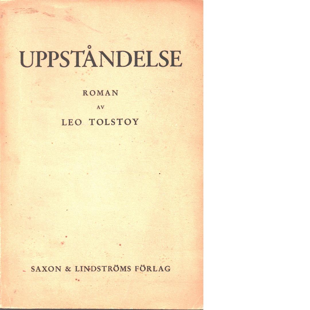 Uppståndelse - Tolstoy, Leo