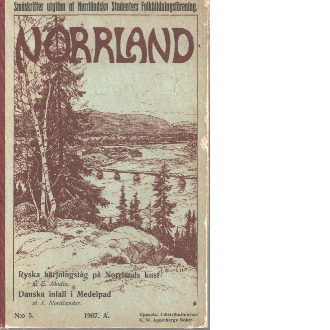 Ryska härjningståg på Norrlands kust - Modin, Erik