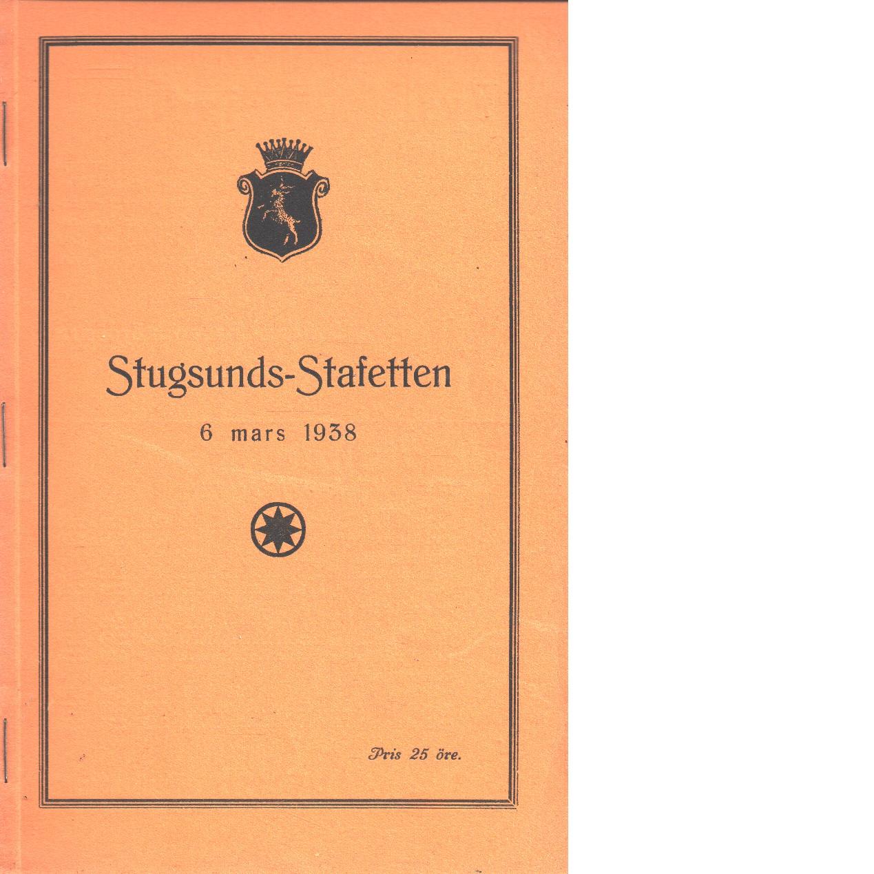 Stugsundsstafetten 1938 - Red.