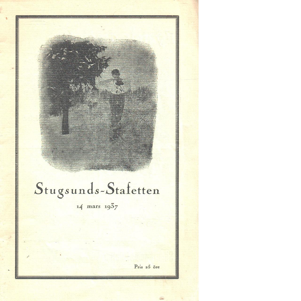 Stugsundsstafetten 1937 - Red.