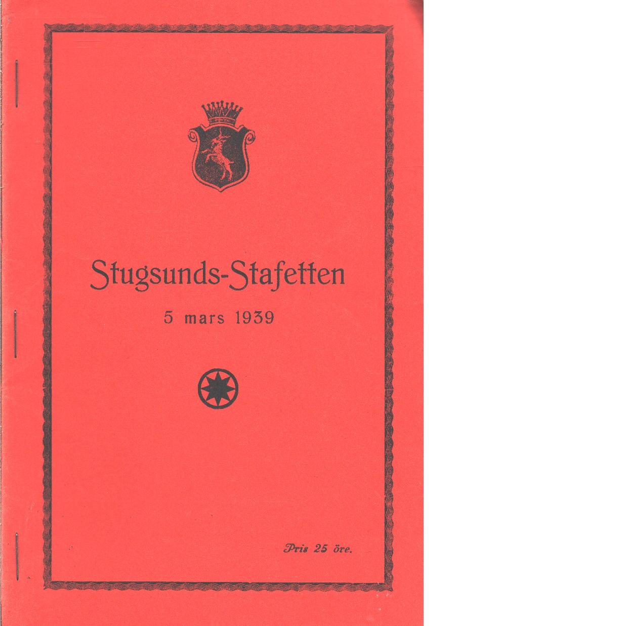 Stugsundsstafetten 1939 - Red.