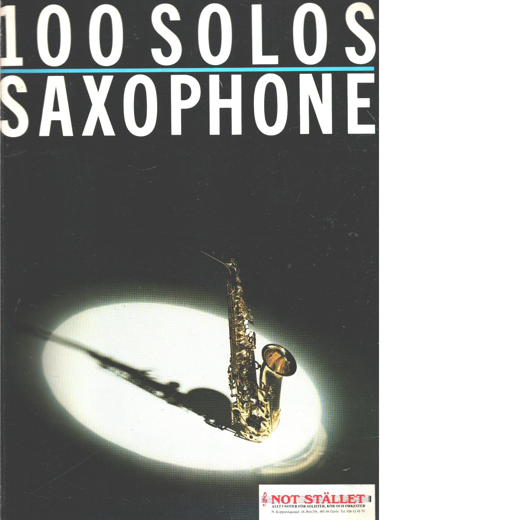 Coleccion - 100 Solos Vol.1 para Saxofon - Red.