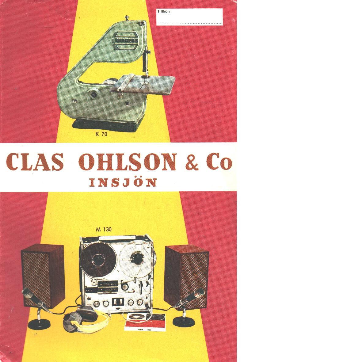 Clas Ohlson: 1967-68  års katalog - Clas Ohlsson & Co