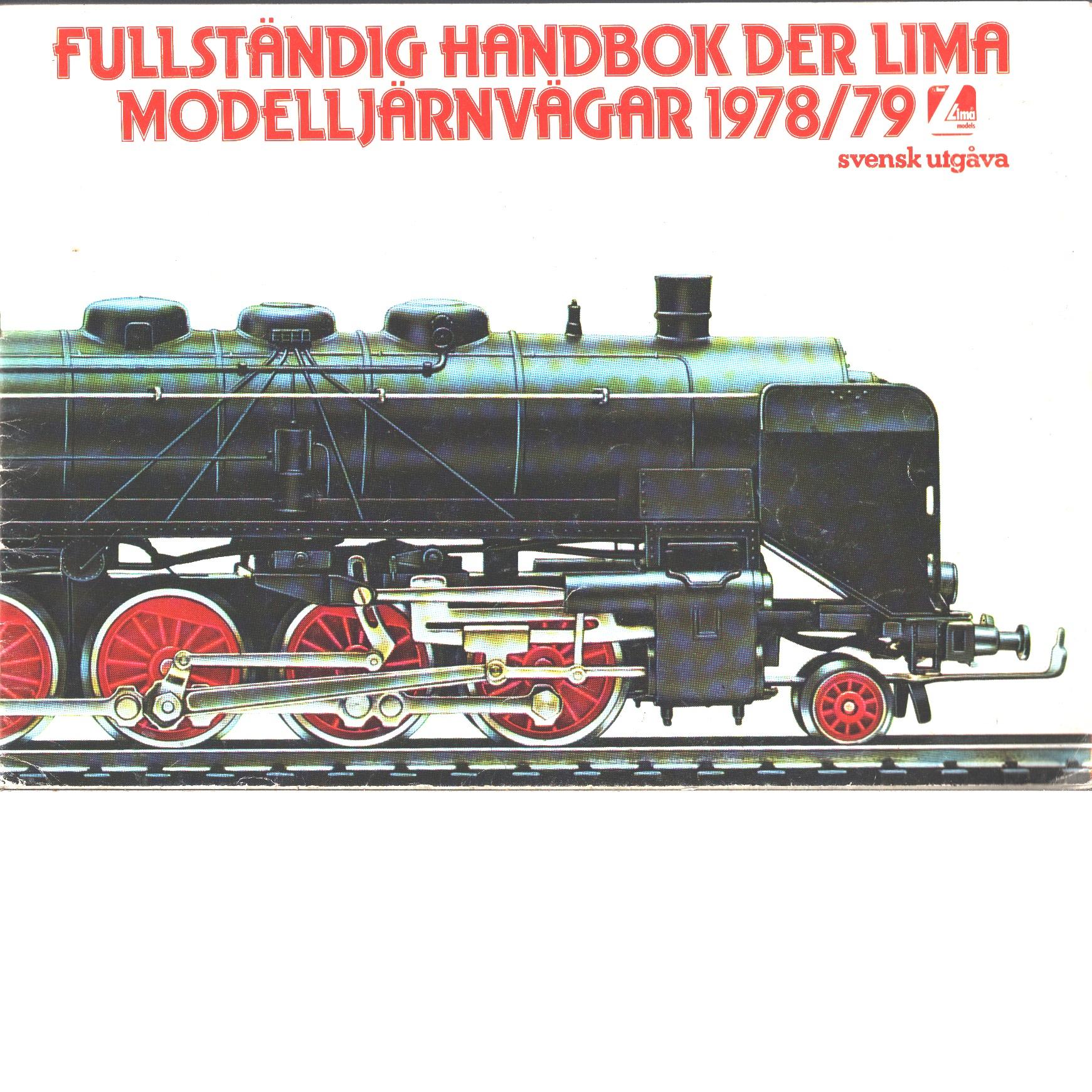 Fullständig handbok der Lima modelljärnvägar 1978/79 - Red.