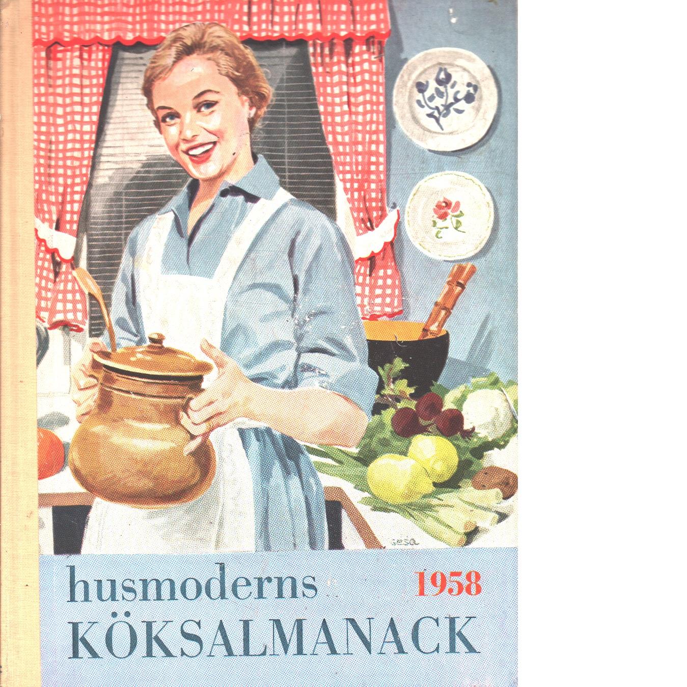 Husmoderns köksalmanack 1958 - Red.