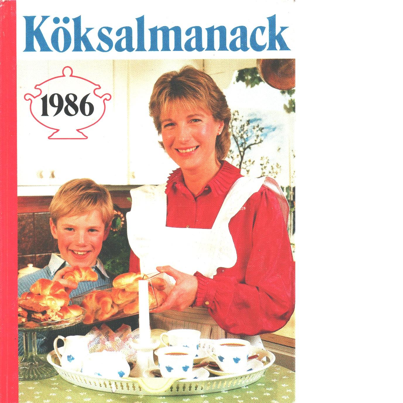 Köksalmanack 1986 - Red.