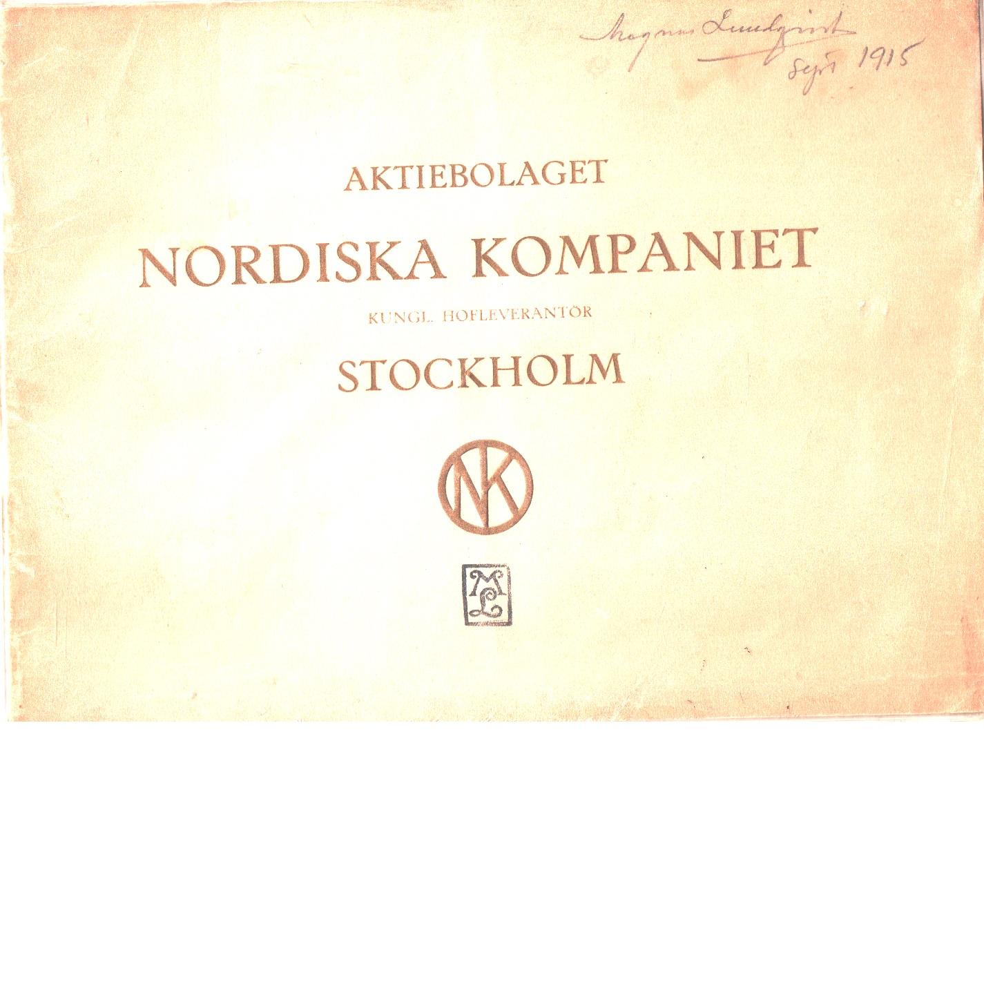 Beskrifning öfver Aktiebolaget Nordiska kompaniets affärshus, Stockholm. - Cassel, Hjalmar