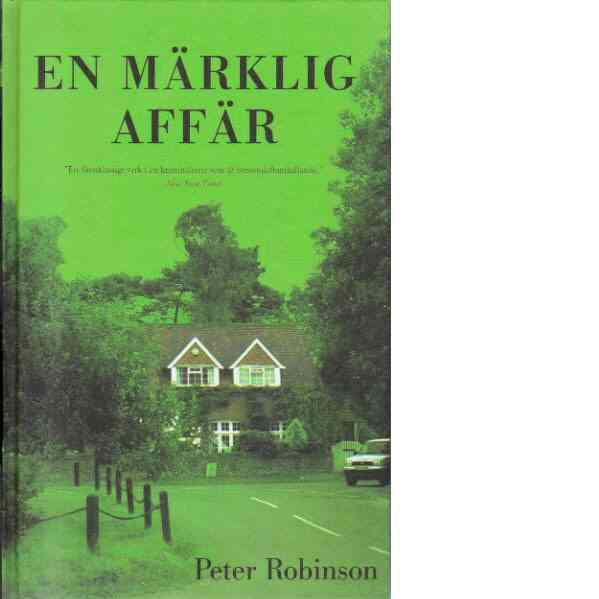 En märklig affär - Robinson, Peter
