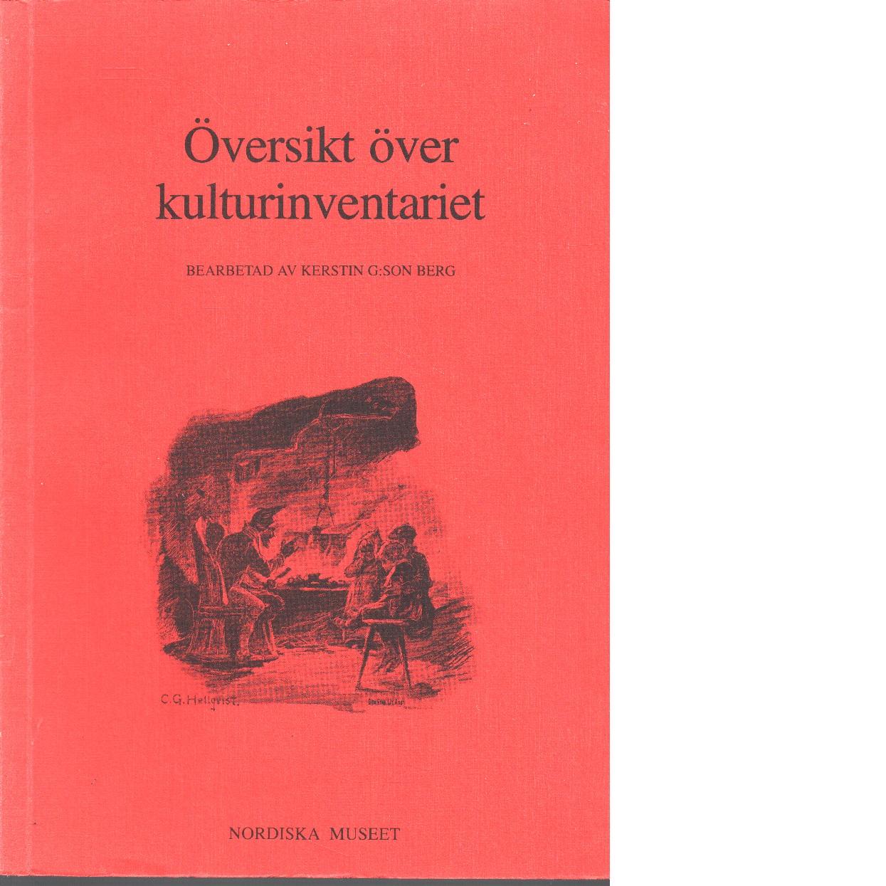 Översikt över kulturinventariet - Red.