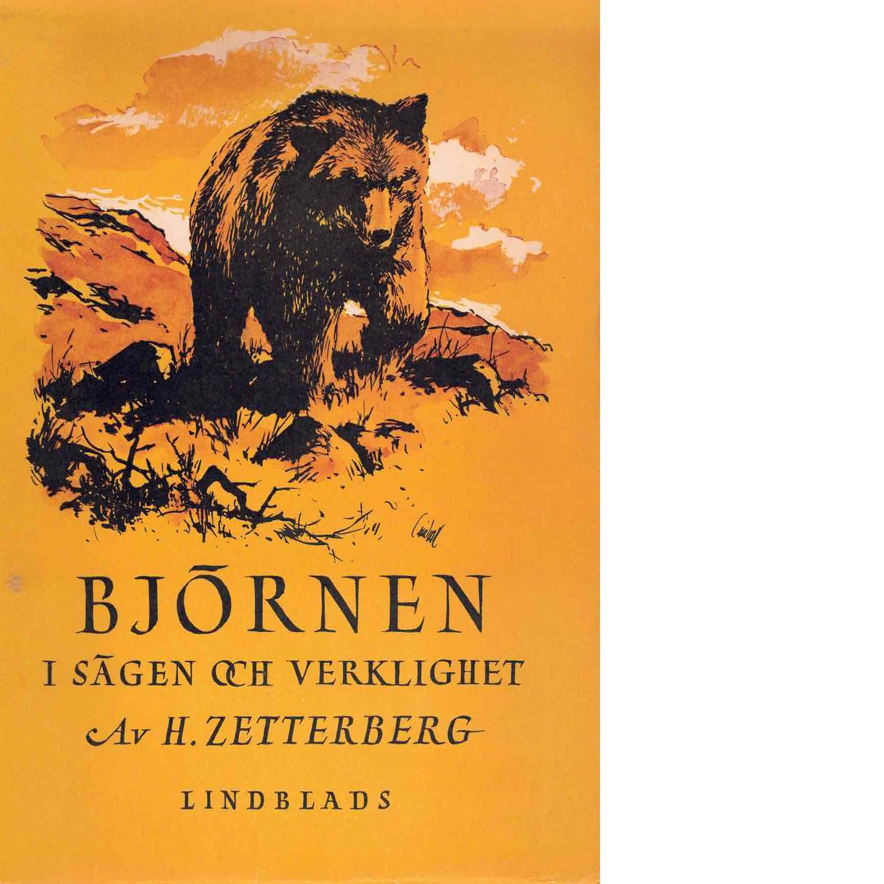 Björnen i sägen och verklighet - Zetterberg, Hilmer
