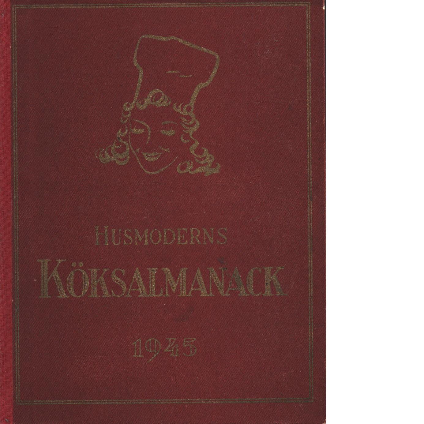 Husmoderns köksalmanack 1945 - Red.