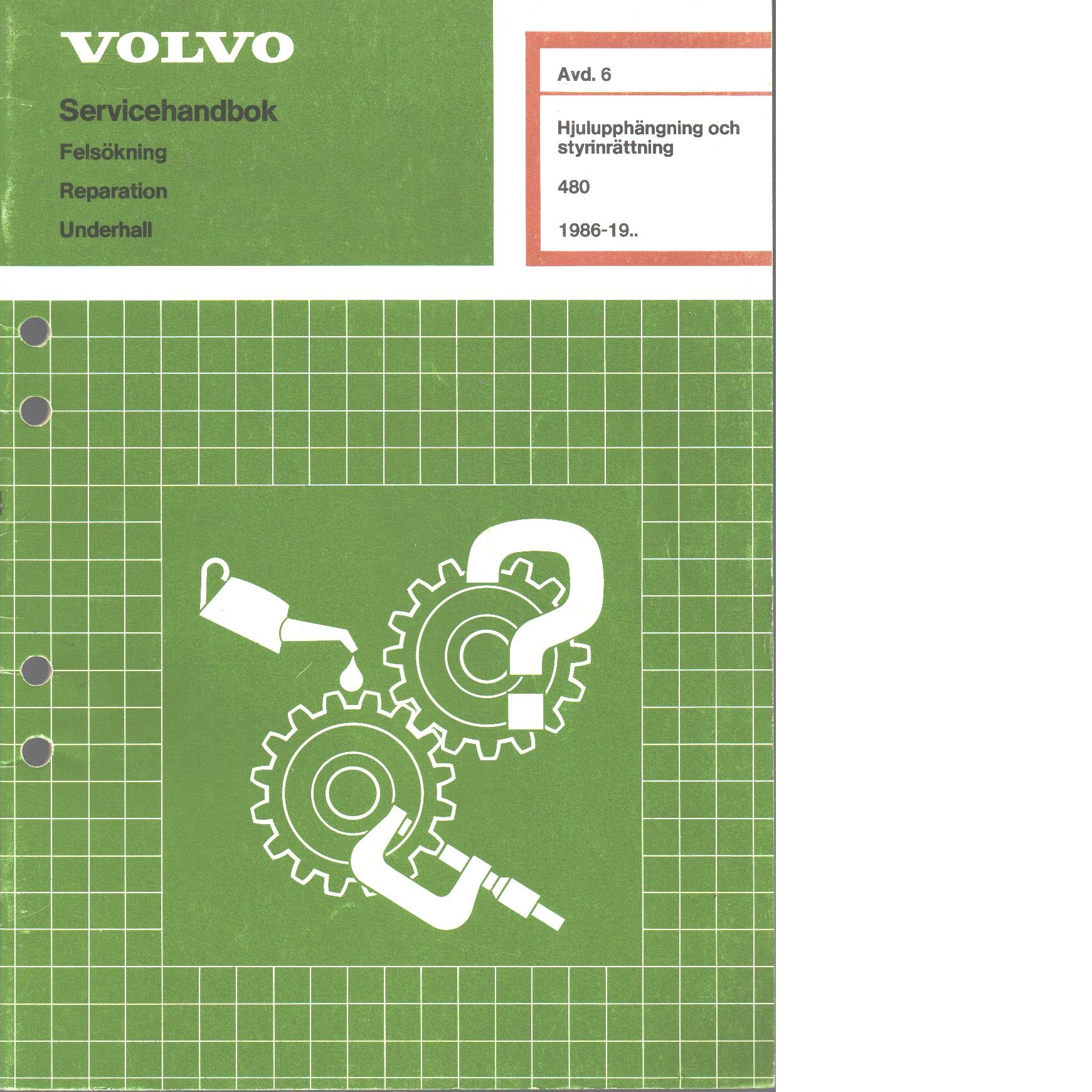 Volvo servicehandbok - Red.