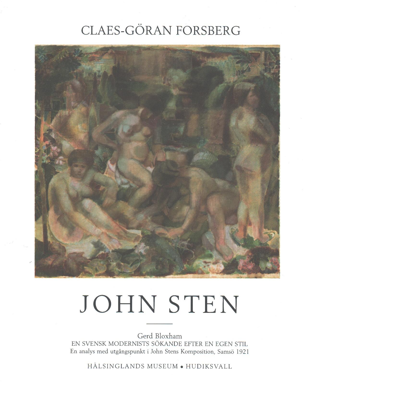 John Sten : 1879-1922 : liv och konst - Forsberg, Claes-Göran