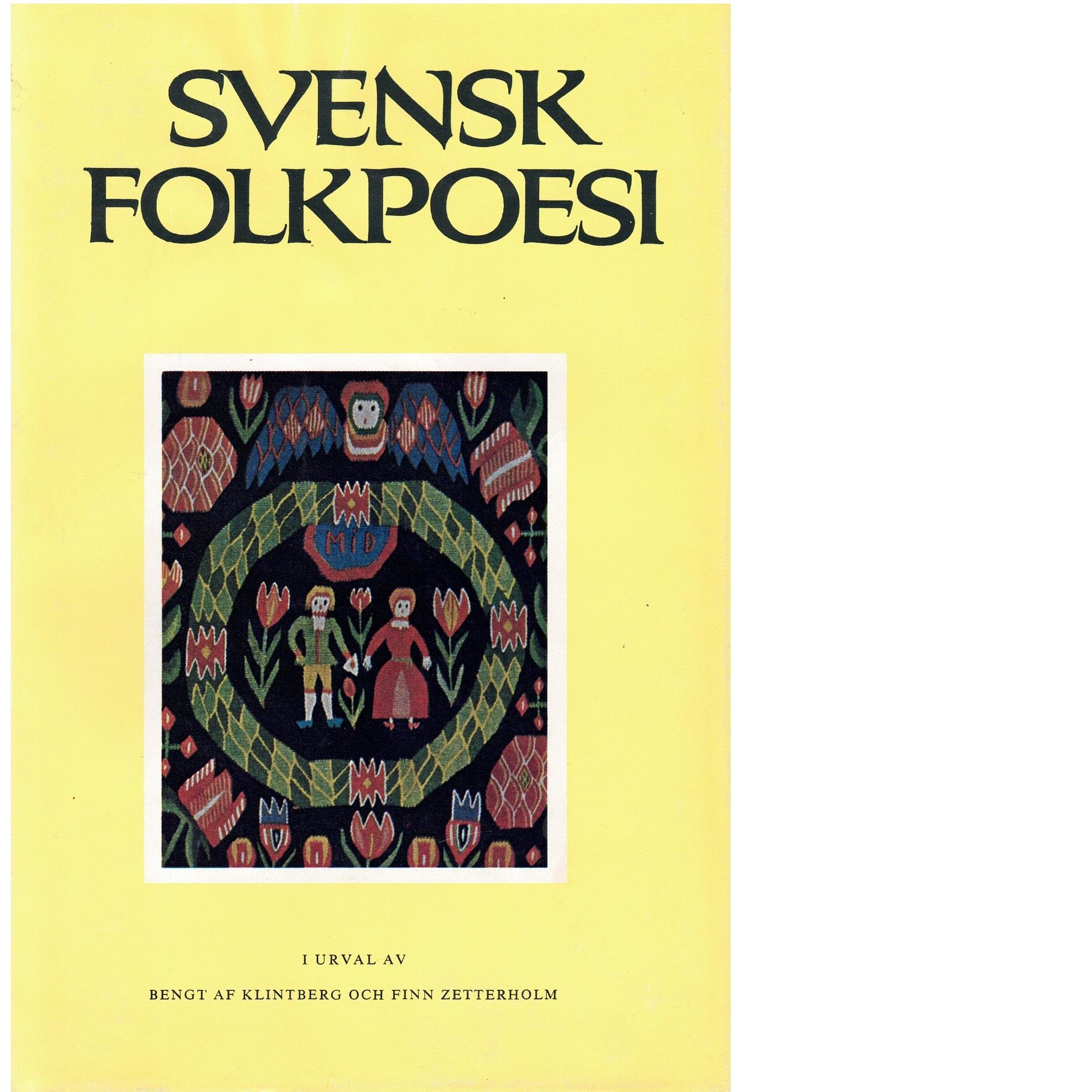 Svensk folkpoesi - Red.