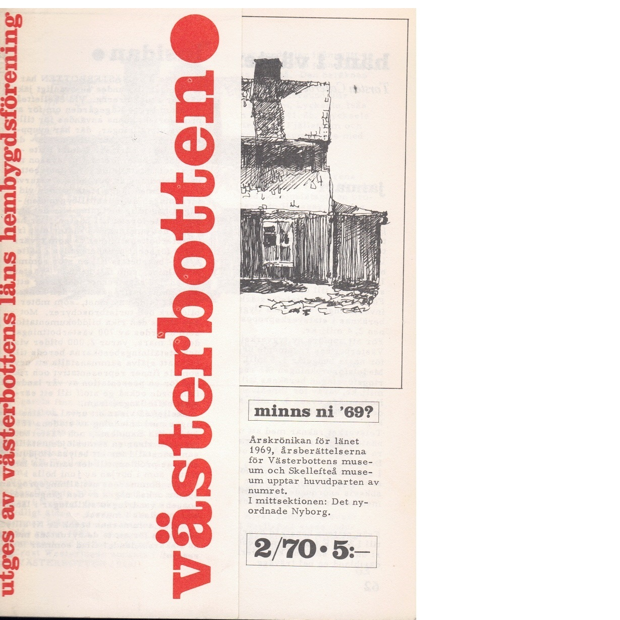 Västerbotten 2 : Västerbottens läns hembygdsförenings årsbok 1981 - Red.