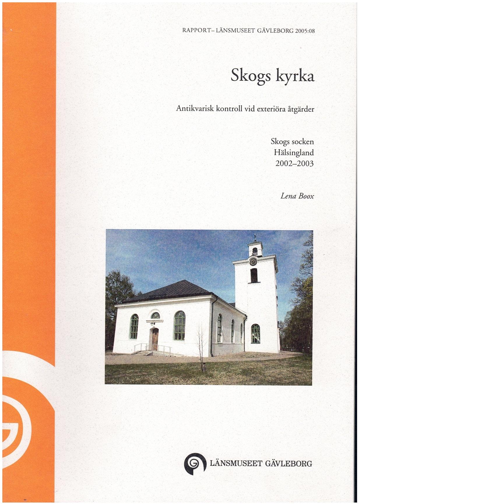 Skogs kyrka - Boox, Lena