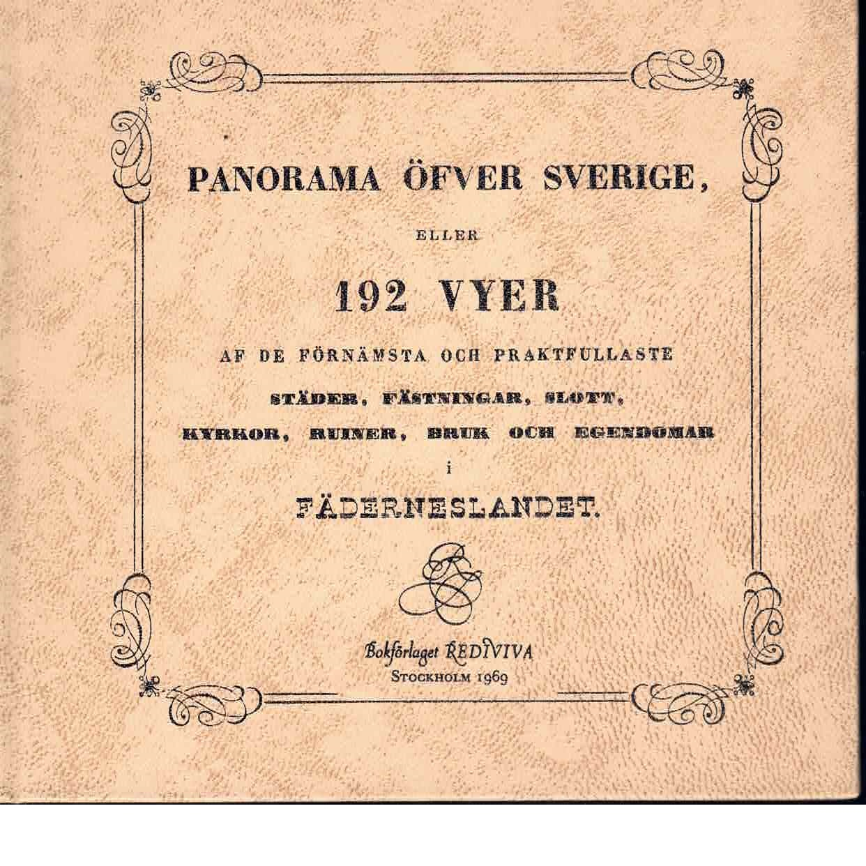 Panorama öfver Sverige - Red.