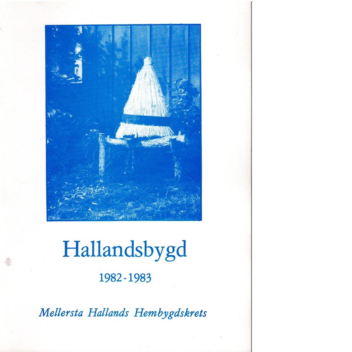Hallandsbygd 1982-83 - Red.