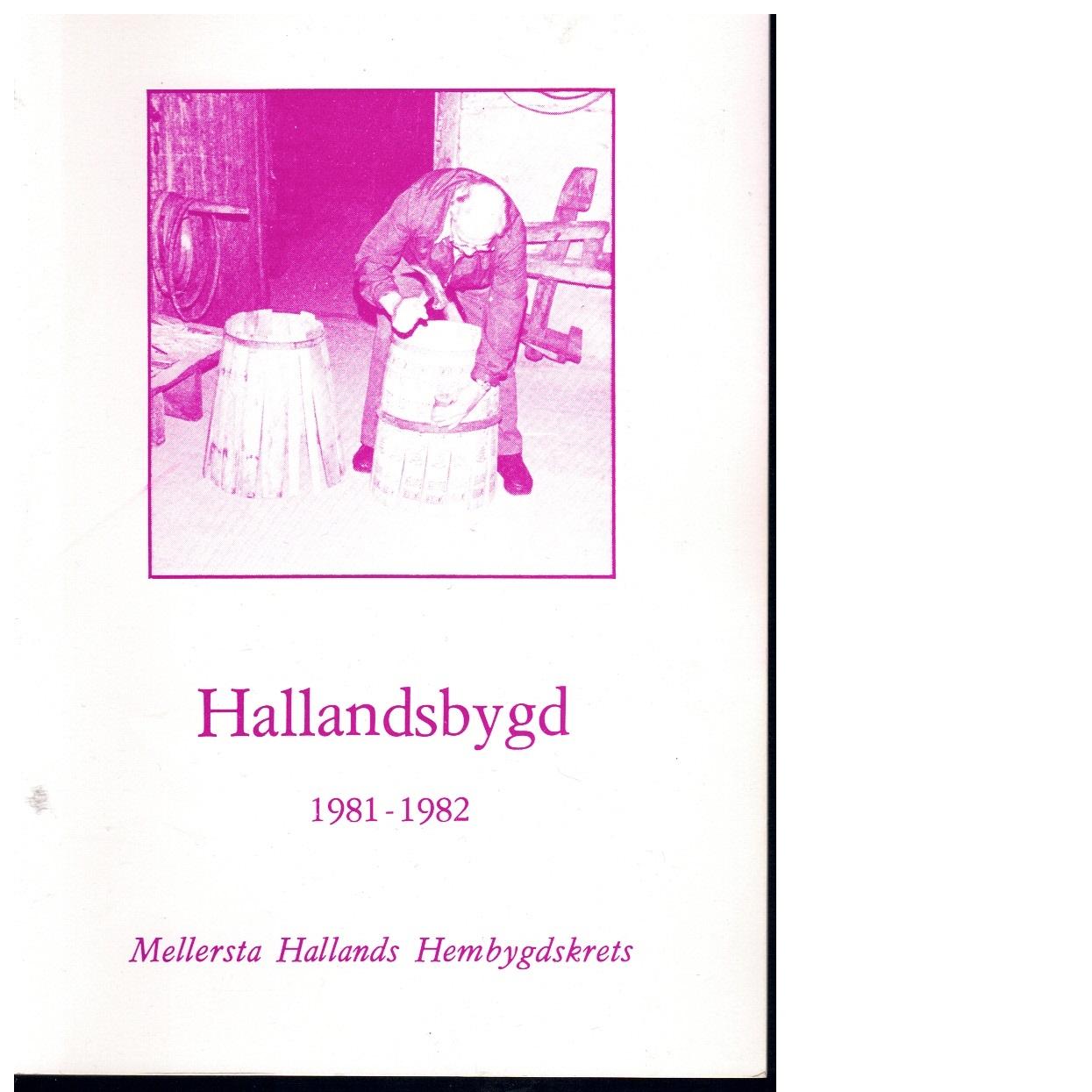 Hallandsbygd 1981-82 - Red.
