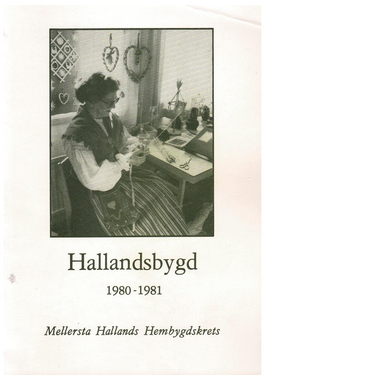 Hallandsbygd 1980-81 - Red.