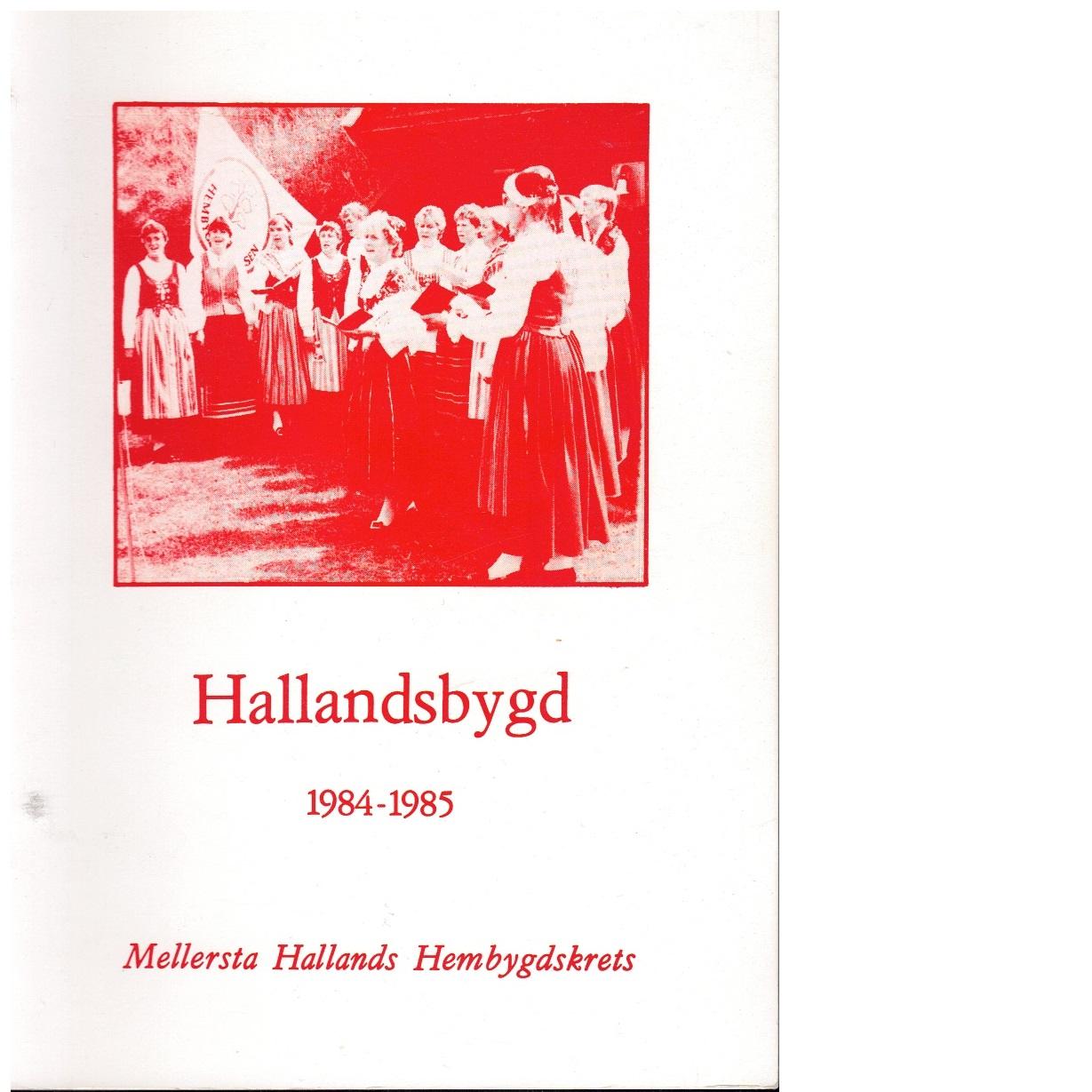 Hallandsbygd 1984-85 - Red.