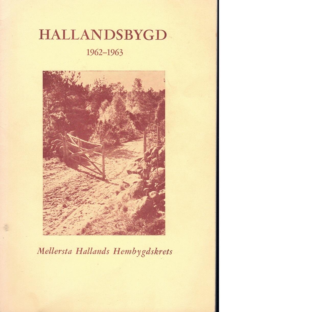 Hallandsbygd 1962-63 - Red.