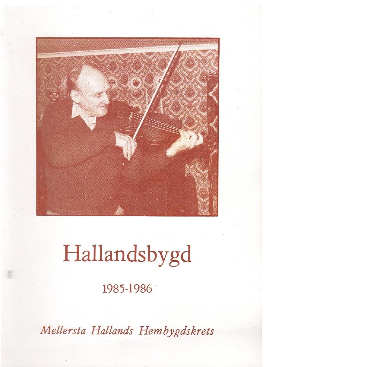 Hallandsbygd 1985-86 - Red.