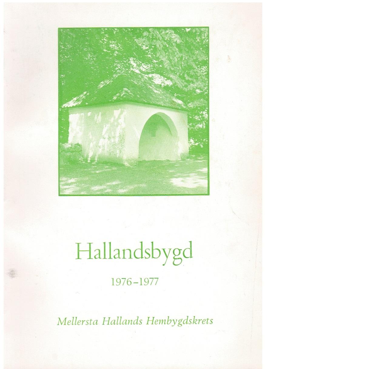 Hallandsbygd 1976-77 - Red.
