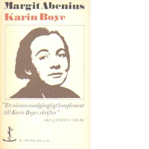 Karin Boye - Abenius, Margit