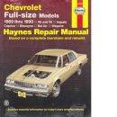 Chevrolet Full-size Models Haynes Repair Manual - Choate, Curt  and Haynes, John Harold