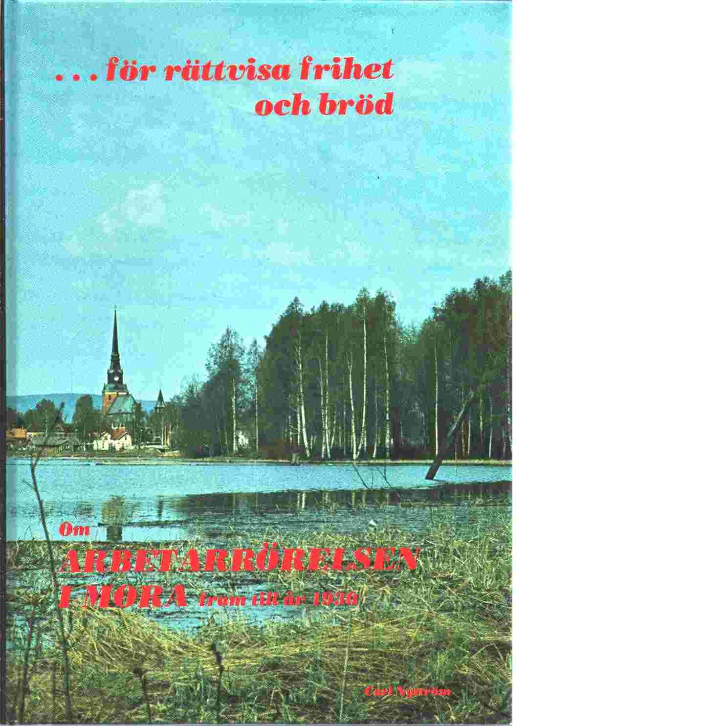 Om arbetarrörelsen i Mora fram till år 1930 - Nyström, Carl