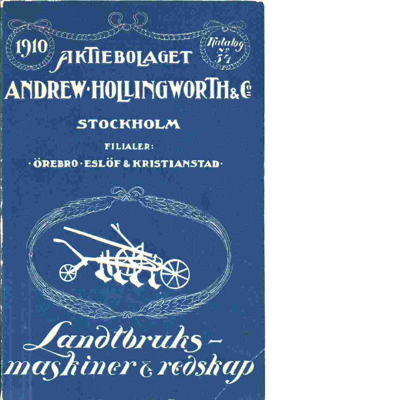 Katalog Andrew Hollingworth & Co - Red.