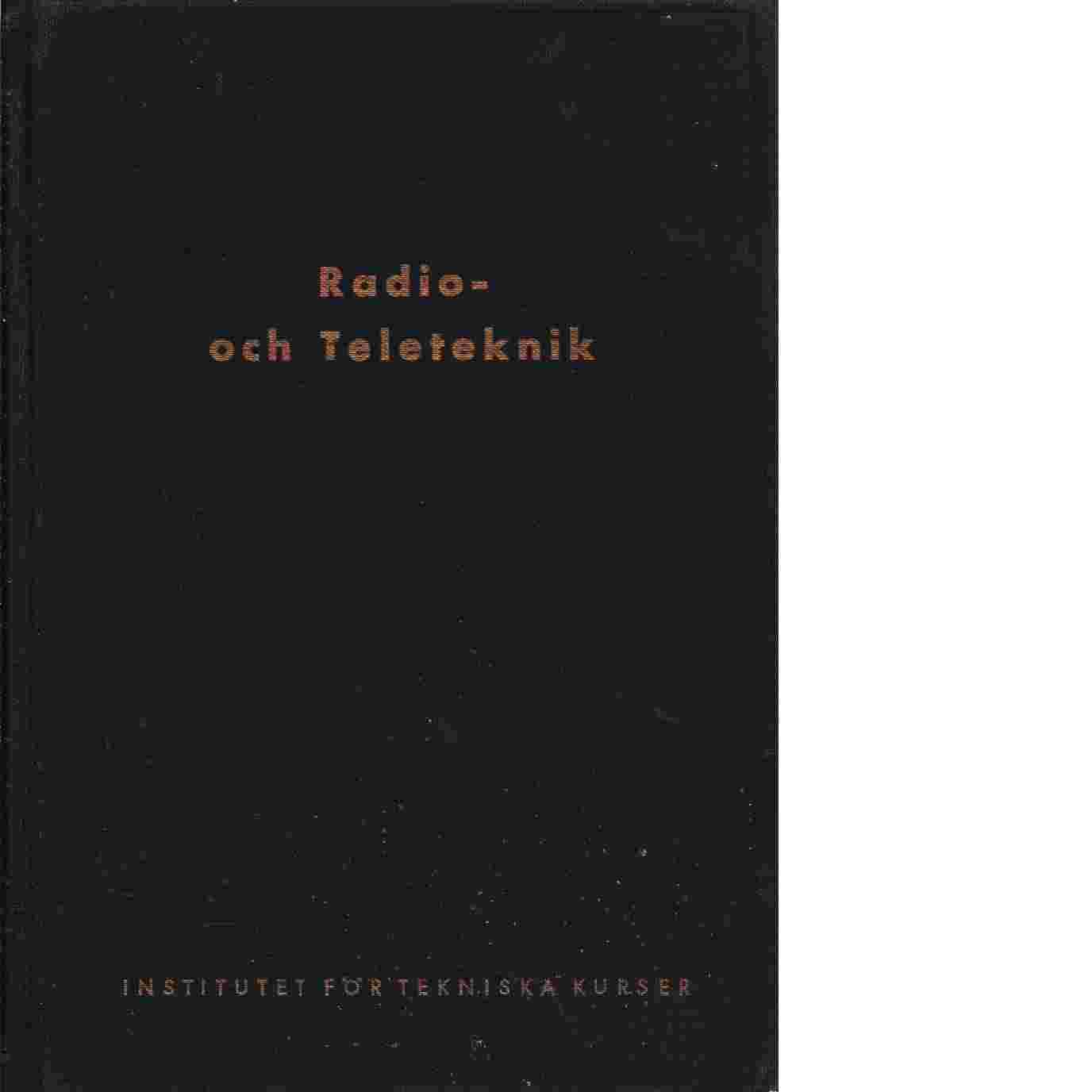 Radio- och Teleteknik - Red.