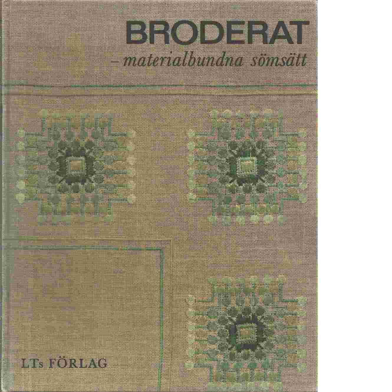 Broderat - materialbundna sömsätt - Föreningen för svensk hemslöjd