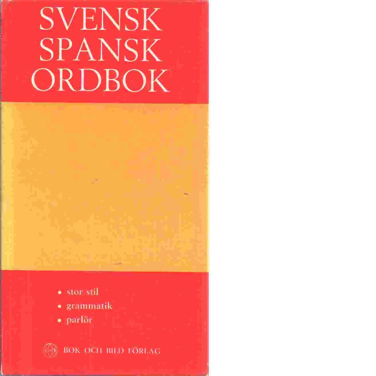 Svensk - Spansk ordbok - Red.