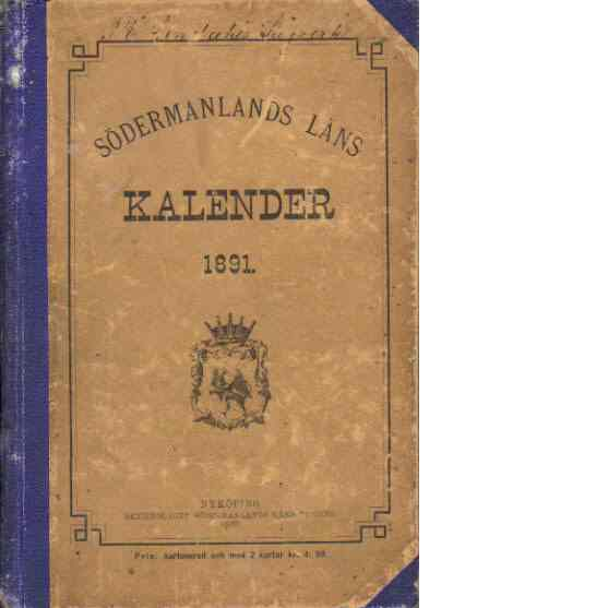 Södermanlands läns kalender 1891 - Essén, Thure