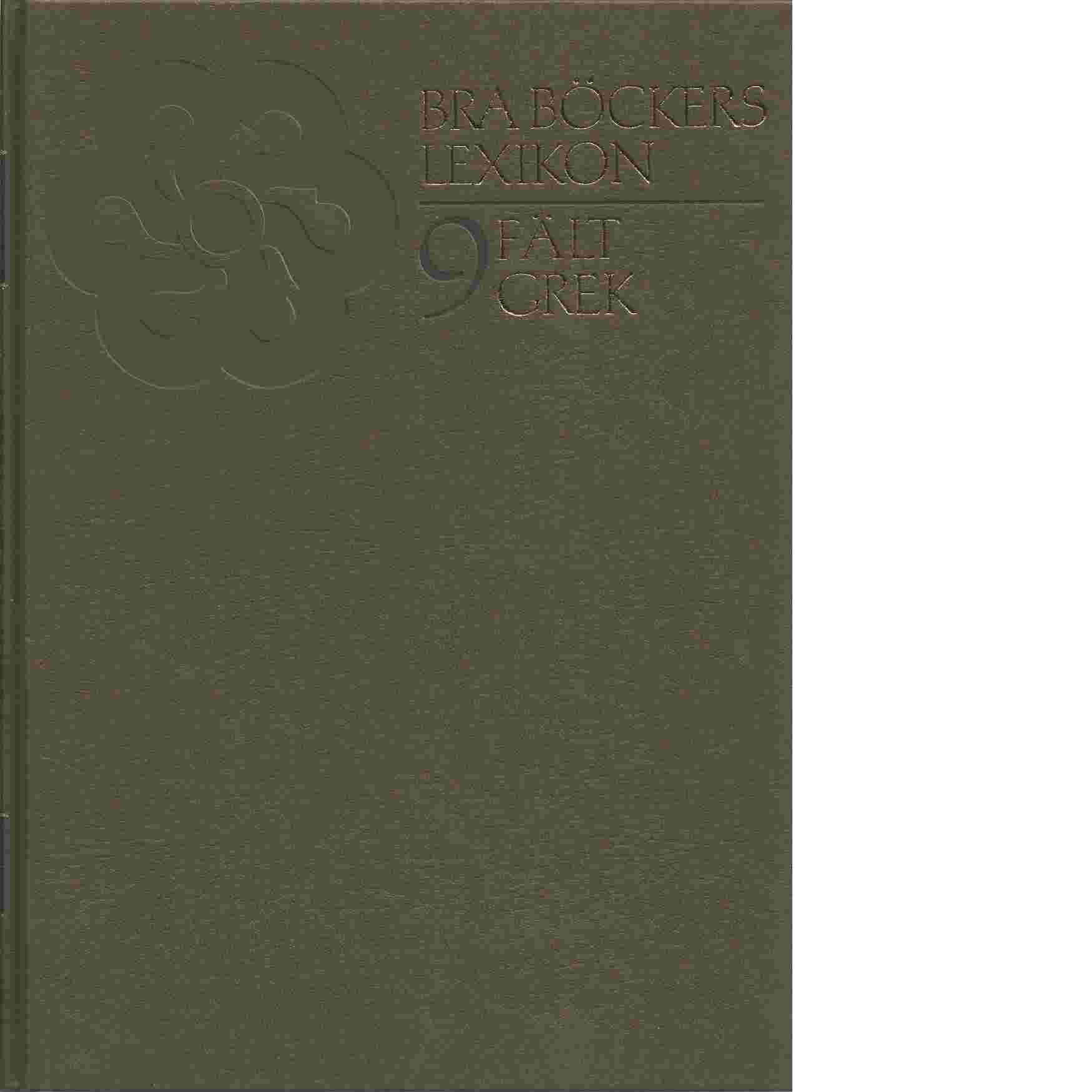 Bra böckers lexikon. 9 - Friesen, von Sten